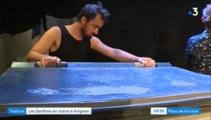Reportage groupe deja au festival avignon pays de la loire theatre