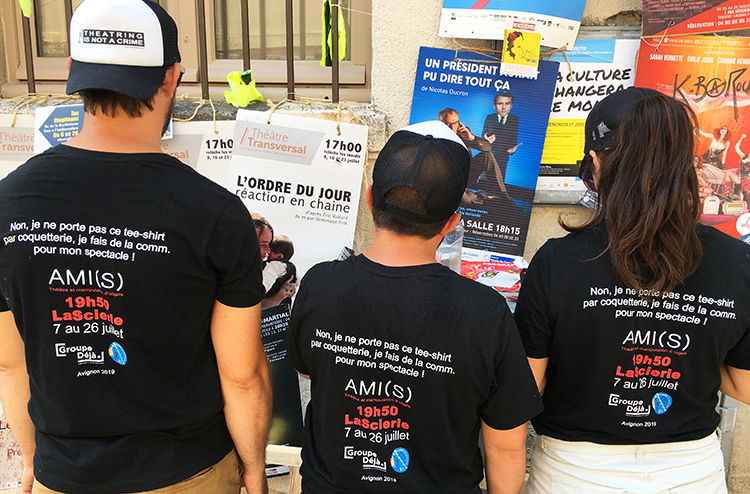 tee shirt avignon groupe deja sebastian lazennec amis 2019 communication